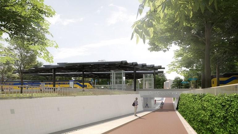 NS station Delft-Zuid wordt Delft Campus