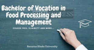 B.Voc in Food Processing and Management