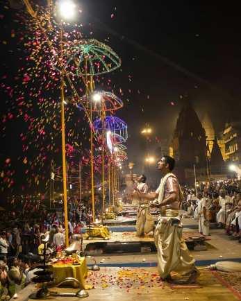 Ganga Aarti at Dashashwamedh Ghat
