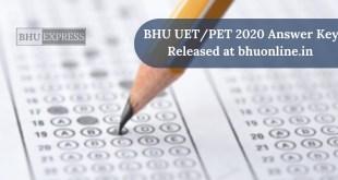 BHU Answer Key Released