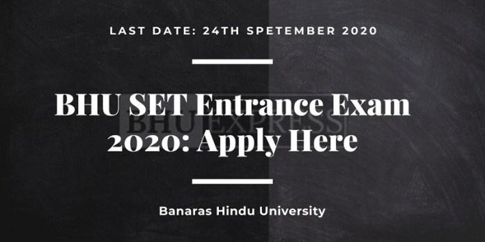 BHU SET Application Form 2020