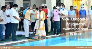 Vice-Chancellor inaugurates swimming pool in BHU