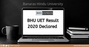 BHU UET Result 2020 Declared