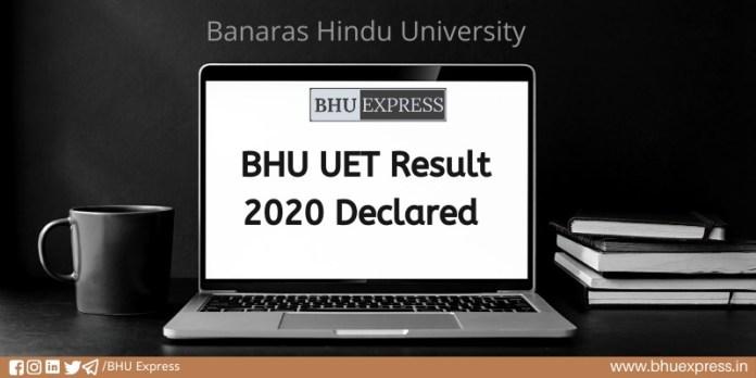 BHU UET Result 2020 Declared
