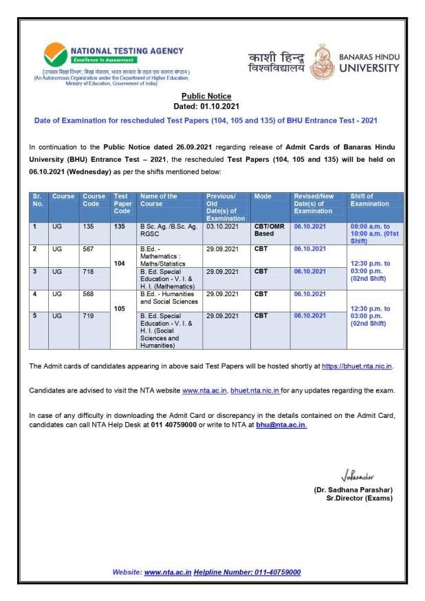 Notice NTA 2021