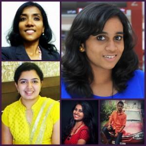 Clockwise: Preetha, Smithi, Anerudh, Janavi, Samantha
