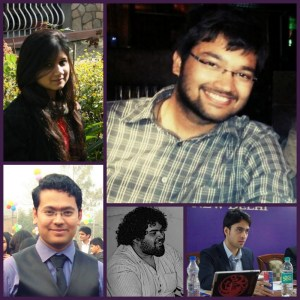 Clockwise: Ayesha, Ketan, Aniket, Ashwin and Ashir