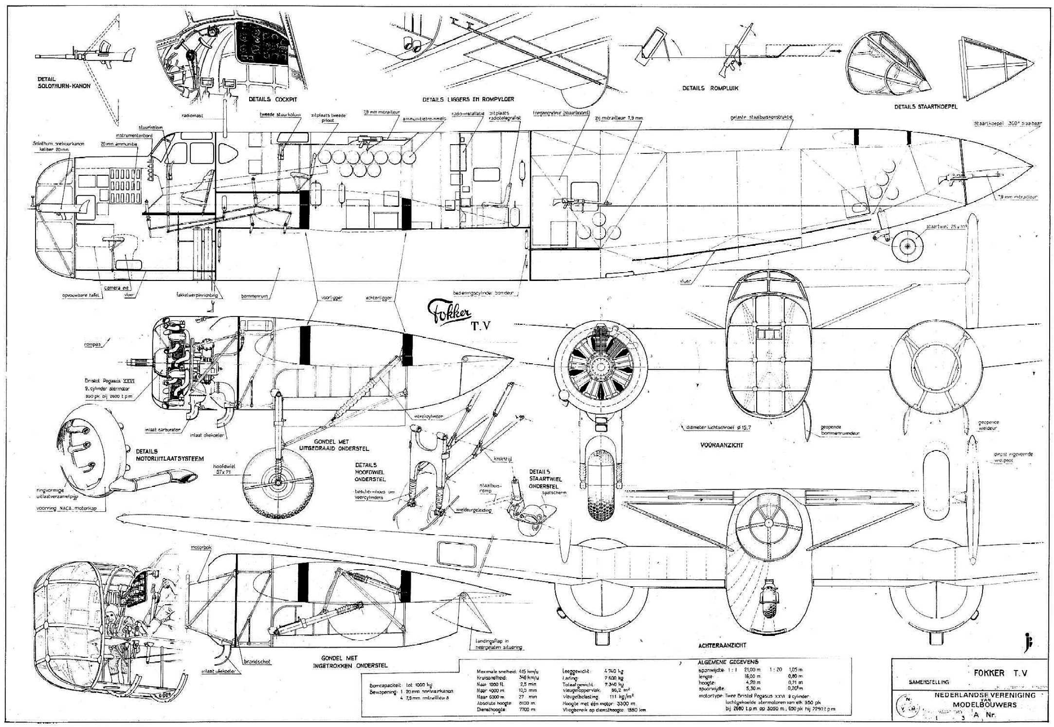 Data Sheet Fokker T V