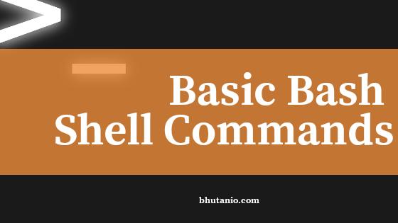 Basic Bash Shell Commands