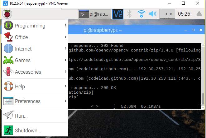 Raspbian OS Menu