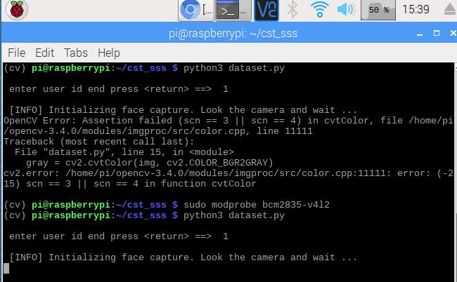 OpenCV Error: Assertion Failed