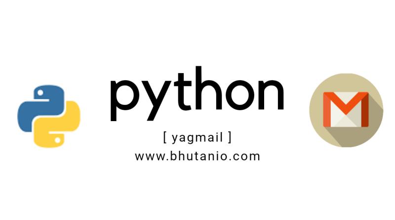 Sending mail using yagmail