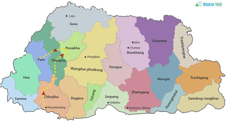 Bhutan Overland Tour from Darjeeling or Sikkim