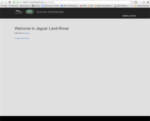 Flask authentication app - landing page