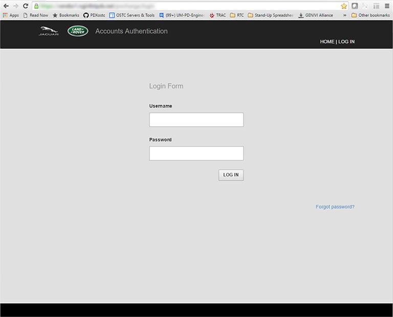 Flask authentication app - login screen