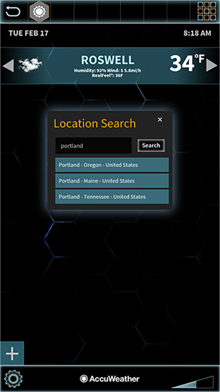 Connect to Accuweather's location API
