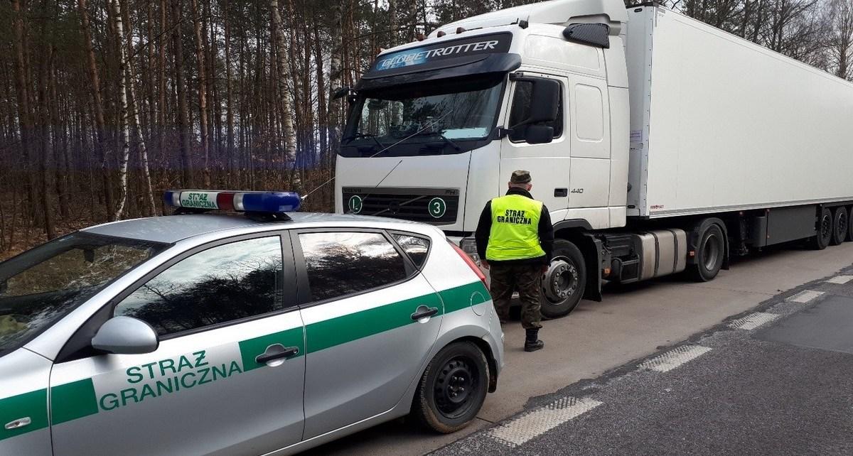 Pijany Rosjanin za kierownicą ciężarówki