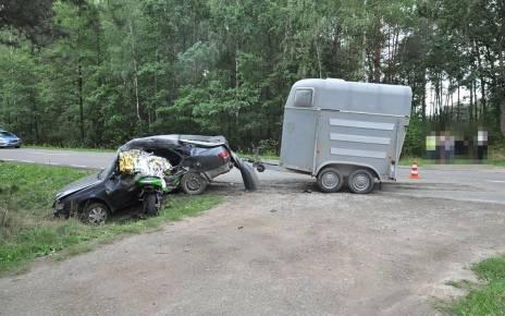 Śmiertelne wyprzedzanie - wypadek w Kożanówce