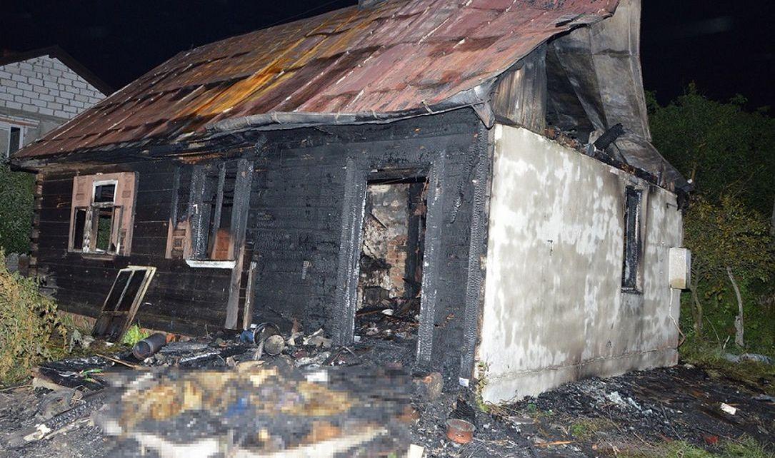 Tragiczny pożar w miejscowości Sajówka