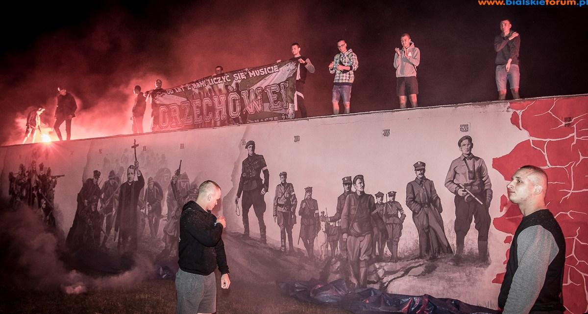 odsłonięcie muralu orzechówek