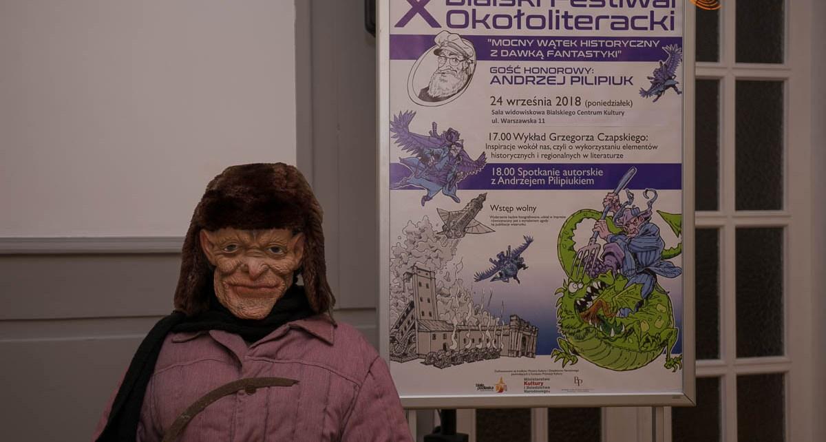 Spotkanie z Andrzejem Pilipiukiem w ramach X Bialskiego Festiwalu Okołoliterackiego