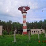 """Stacja Radiolokacyjna """"AVIA W"""" w lasach Wólki Plebańskiej"""