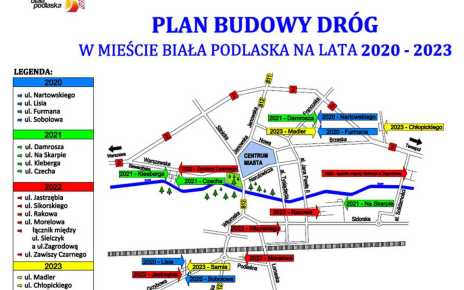 Konferencja prasowa nt. Planu Budowy Dróg w mieście Biała Podlaska na lata 2020-23