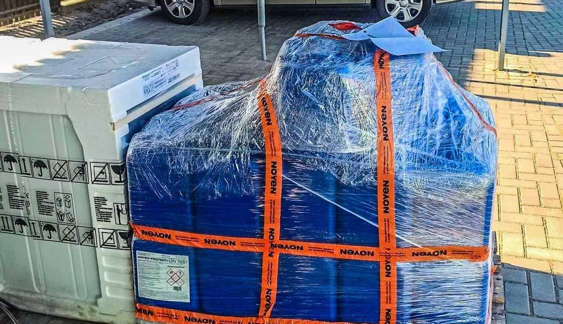 Mieszkańcy przekazali Stacji Pogotowia Ratunkowego płyn do dezynfekcji karetek