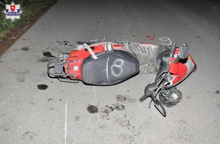 Stracił panowanie nad motorowerem poniósł śmierć na miejscu