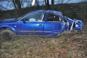 35-latka straciła panowanie nad autem