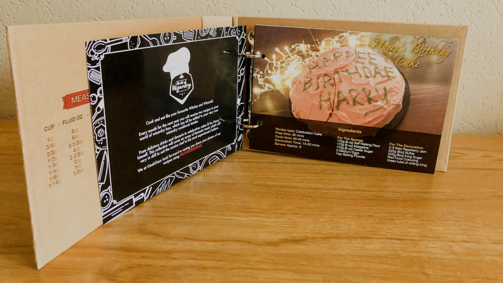 Geek gear World of wizardry box december harry's birthday cake