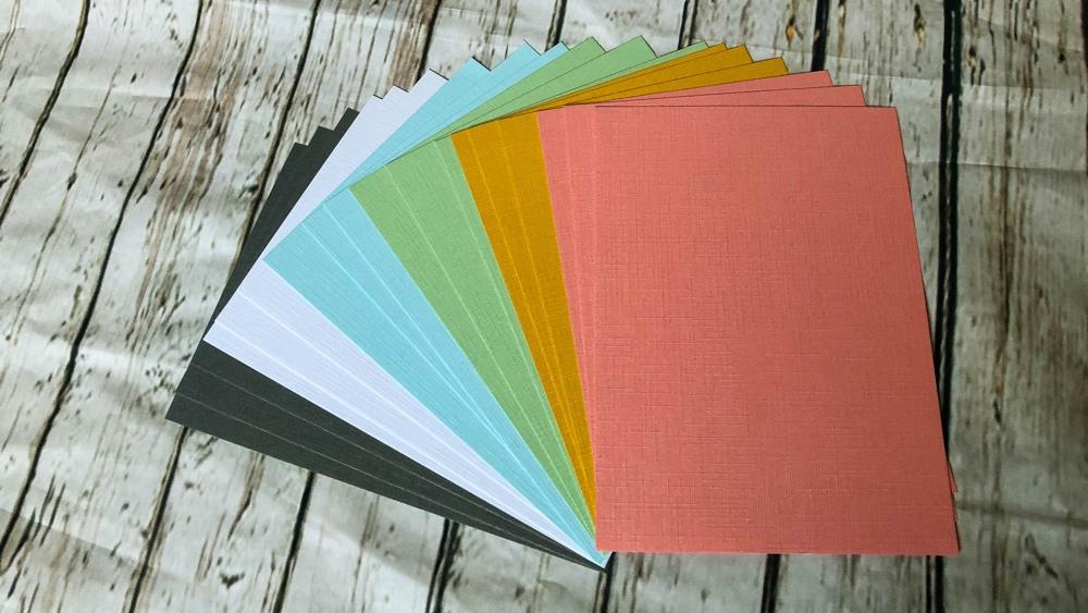 creatieve shoplog action linen cardstock