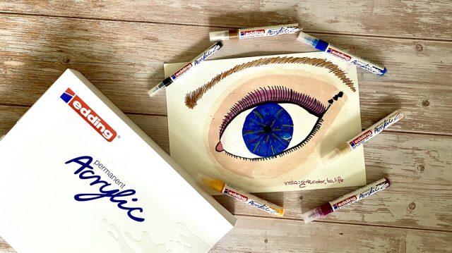 Edding acrylic markers eye