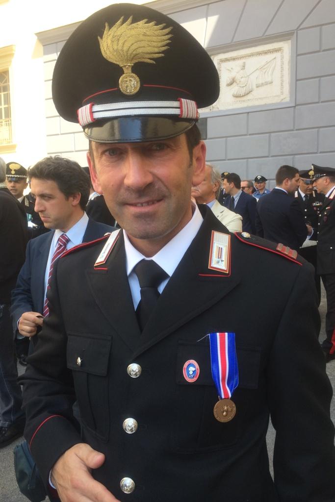 Medaglia di bronzo al carabiniere che insegu la squadra
