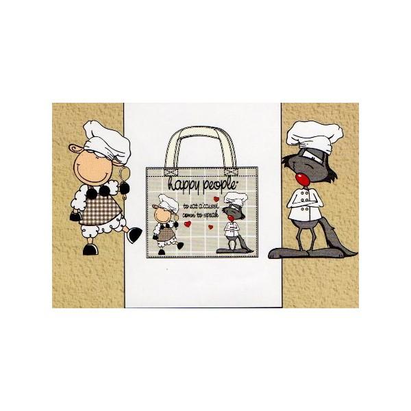 Shopper Bag Happy People  BiancheriaShop