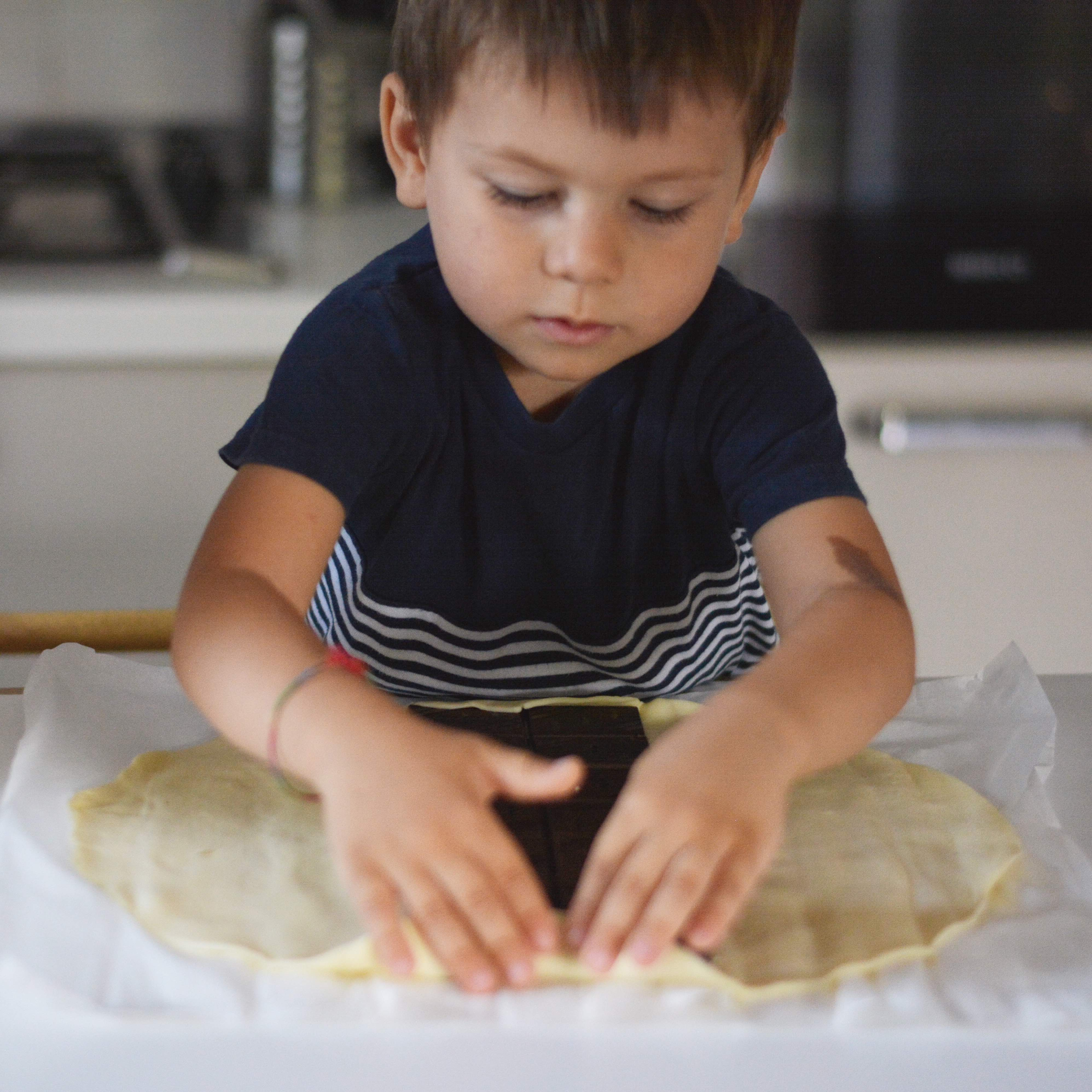 Fold the pastry sheet