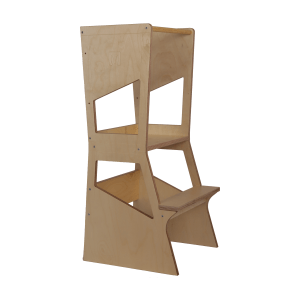 Learning Tower MOKA Bianconiglio Kids - Transparent Natural finish