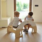 Bianconiglio Kids Rocker Table - scrivania con panche