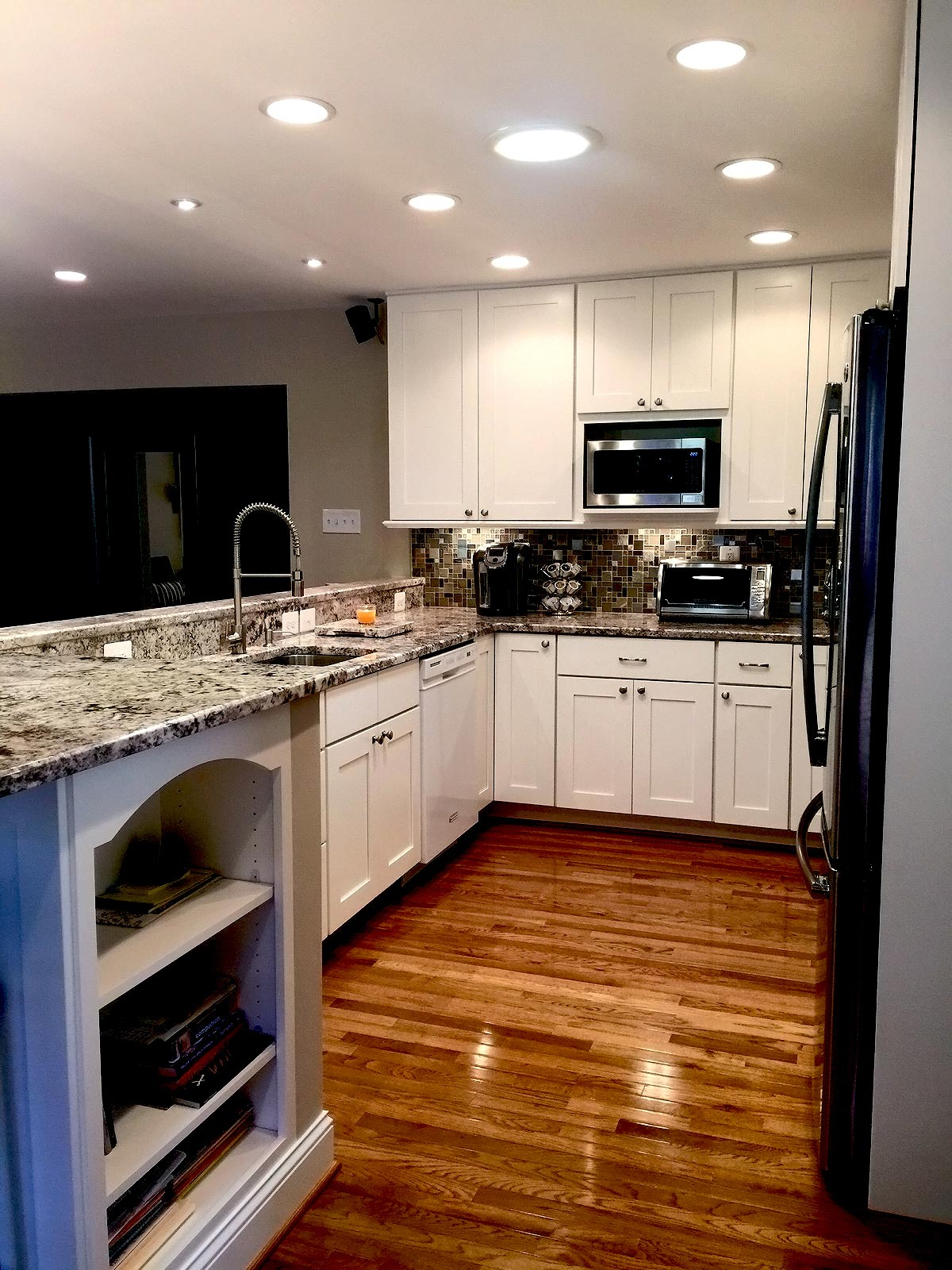 kitchen remodeling fairfax va flush mount light bath remodel in bianco renovations after