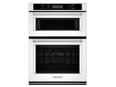 27 kitchenaid combination wall oven with even heat true convection lower oven koce507ebl