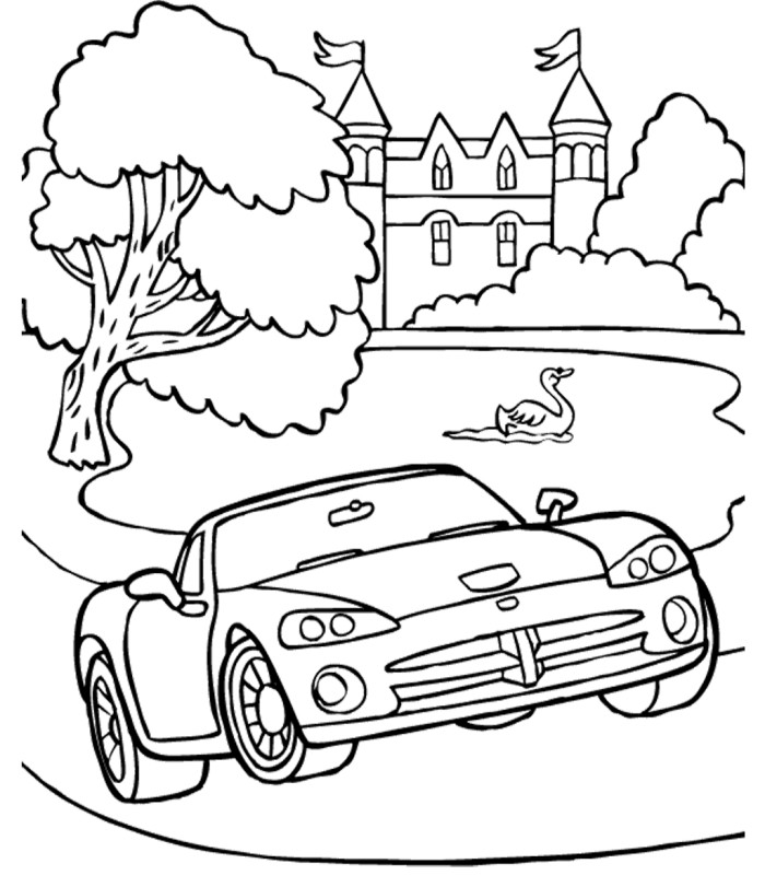 Free 1957 chevy coloring pages