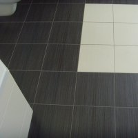 Black Ceramic Tile Bathroom