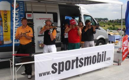 Biathlon mit dem Sportsmobil