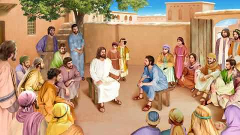 Gesù,Pietro,discepoli,bambini,credente