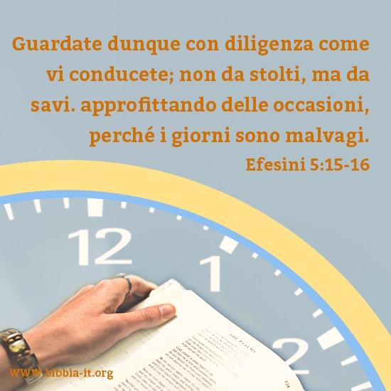 Prenditi del tempo per leggere la Parola di Dio