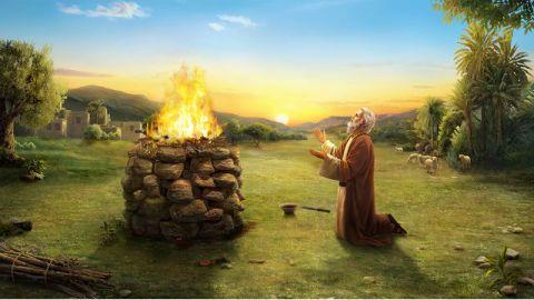 Giobbe prega a Dio