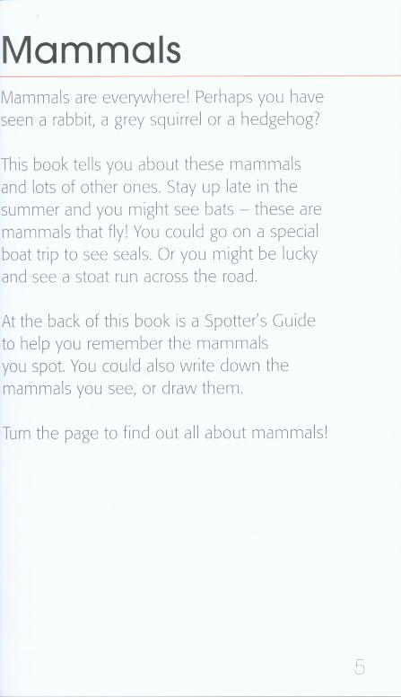 RSPB first book of mammals by Chandler, David