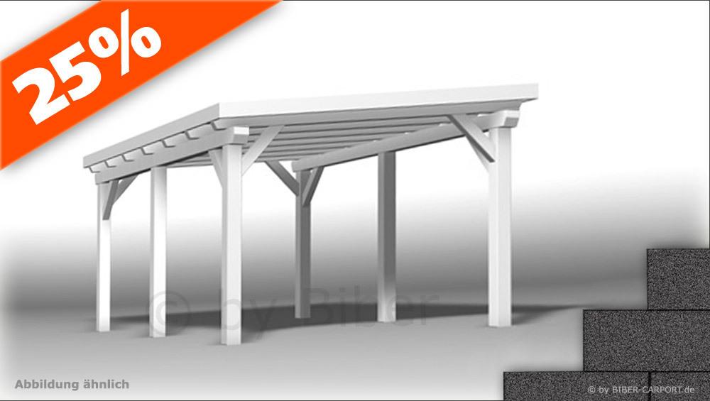 30 X 50m Pultdach Carport Mit Bitumenschindeln