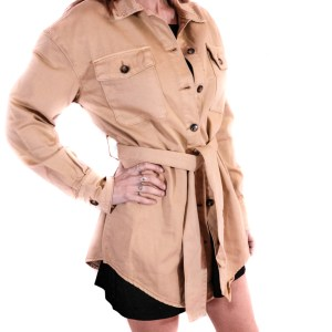 GLAMOROUS - Feel jacket in cotone beige