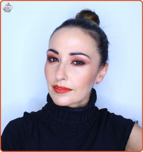 Maquillaje en tonos naranjas